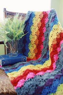 To do this winter - Rainbow Shell Throw from the Crochet Boutique book