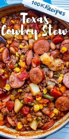 Easy Casserole Recipes, Easy Soup Recipes, Meat Recipes, Cooker Recipes, Mexican Food Recipes, Polish Sausage Recipes, Easy Taco Soup, Ground Beef Stews, Deserts
