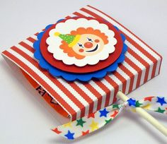 Circus Pops  Lollipop Favors  Set of 10 by OneFantasticParty, $14.00