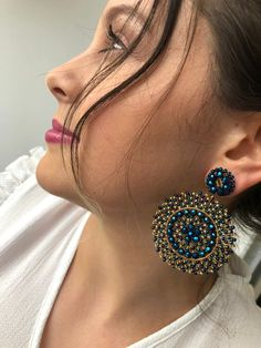 1 million+ Stunning Free Images to Use Anywhere Indian Jewelry Earrings, Lace Earrings, Wire Wrapped Earrings, Bead Jewellery, Seed Bead Earrings, Etsy Earrings, Bohemian Jewelry, Statement Earrings, Earrings Handmade