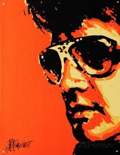 Elvis Tigerman Placa de lata na AllPosters.com.br Mais