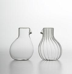 Dodo Glass Striped Low Carafe
