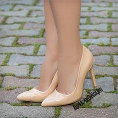 Samira Rugan Ten Rengi Stiletto Ayakkabı #nude #stilettos