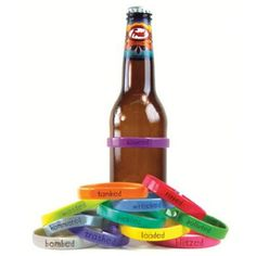 Fred & Friends Beer Bottle Bands - Bombed by Fred Friends - Giftopia Shop Bomb Drinks, Funny Coffee Cups, All Beer, Inked Shop, Friends Set, Drinking Games, Fun Shots, Wine Charms, Beer Lovers