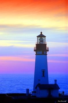 Yaquina Lighthouse Sunset II Photograph  - Yaquina Lighthouse Sunset II Fine Art Print
