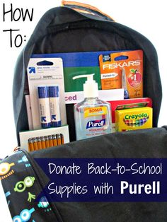 SavingSaidSimply.com - How To EASILY Donate Back to School Supplies with PURELL products #PURELLLendAHand #BTS #sponsored