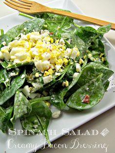 bacon dressing spinach salads salad dressings salad recipes food ideas ...