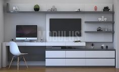 Bedroom Tv Wall, Master Bedroom Interior, Bedroom Bed Design, Bedroom Furniture Design, Home Room Design, Home Office Design, Bedroom False Ceiling Design, Home Bedroom, Home Living Room