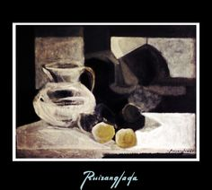 Ruizanglada (1929-2001). Bodegón. Entre 1977 y 1981 aproximadamente.¡ Se busca ! https://www.facebook.com/ruizanglada.pintura