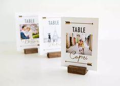 DIY Travel Themed Wedding Table Signs