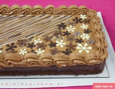 Mazurek czekoladowy Polish Desserts, Polish Recipes, Polish Food, Polish Easter, Brownie Cake, Cake Cookies, Truffles, Amazing Cakes, Sweet Recipes