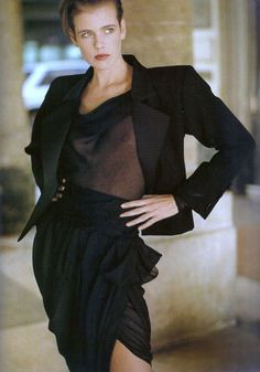 Yves Saint Laurent in Vogue Paris 1989 (photography: Arthur Elgort) via www.fashionedbylove.co.uk