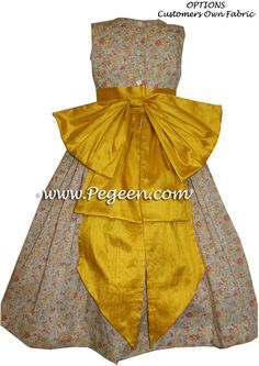 We made this floral Flower Girl Dresses by Pegeen.com from Liberty of London fabric in our Pegeen style 345