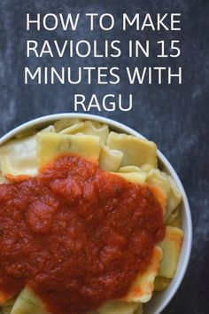 How to make Raviolis in 15 minutes with Ragu | apartment149.com