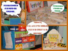 Rijmen en dichten, laat de kinderen op en speelse wijze met gedichten kennismaken. Voeg veel gedichtenbundels toe!