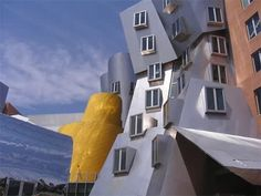 This unusual academic complex was projected by a famous architect Frank Gehry, the Pritzker Prize winner, exclusively for the Massachusetts Institute of Technology.