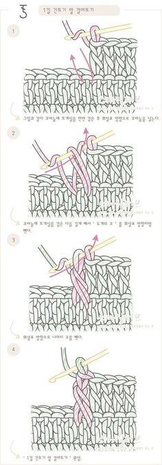 푸미스토리 손뜨개 뜨개실 털실 핸드메이드샵 - 코바늘 강좌 [[뒤 짧은뜨기= 되돌려 짧은뜨기]코바늘 도안 ...