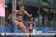 McLaughlin, a 16 year-old, won her heat of the women's 400 hurdles on Thursday night in 55.46 to advance to Friday's semifinals.