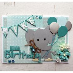 Marianne Design Collectables Cutting Dies & Clear Stamp - Eline's Elephant COL1384 | Buddly Crafts