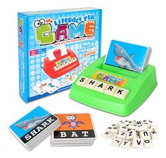 GAMT Alphabet Card Game Assortment Literacy Teaching Aids Learn English Word Children Puzzle Educational Typer Toys Baby EarlyLearning Literacy Machines ** Read more at the image link.