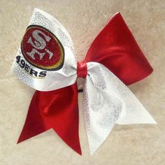 San Francisco 49ers Cheer Bow on Etsy, $15.00