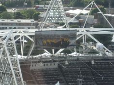 Flame, seen from The Orbit, Olympic Park 2012 Believe In Miracles, Olympics, Park, Travel, Viajes, Parks, Destinations, Traveling, Trips