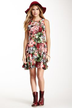 Jack by BB Dakota Nottingham Floral Print Dress on HauteLook