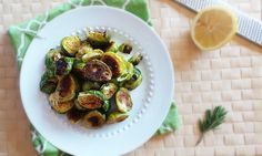 Lemon Rosemary Brussels Sprouts by @vabrecipes | Find this Recipe on SideChef | SideChef.com