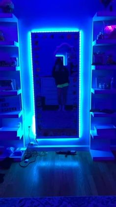 Room Lights - Bright Idea - Home, Room, Furniture and Garden Design Ideas Neon Bedroom, Room Design Bedroom, Room Ideas Bedroom, Bedroom Goals, Diy Bedroom, Blue Bedroom Ideas For Girls, Cool Rooms For Teenagers, Adult Bedroom Decor, Hippie Bedroom Decor