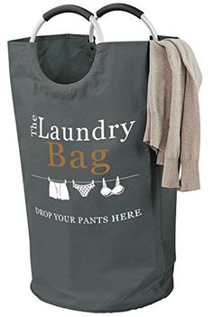 """PREMIUM PLUS LAUNDRY HAMPER BAG WITH 2 ALUMINIUM HANDLES - 17"""" x 13.5"""" Base"""" at 26"""" Height Let's be #honest, laundry #isn't an exciting thing! So we are forgiven..."""