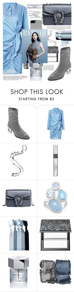 """""""Sky blue and gray shades,all of them are mattes!"""" by jelena-bozovic-1 ❤ liked on Polyvore featuring Pierre Cardin, Christian Dior, Emi-Jay, Sephora Collection, Yves Saint Laurent, NARS Cosmetics, Ted Baker and Anja"""