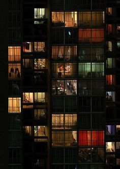 Night apartments - great inspiration for my book of dark erotic short stories, C.-Night apartments – great inspiration for my book of dark erotic short stories, Can You See Me?: Erotic tales of voyeurism. Read more about the book here: viewBook. Neon Licht, Cultural Architecture, Online Architecture, Facade Architecture, Cool Apartments, Night Photography, Art Photography, Building Photography, Photography Composition