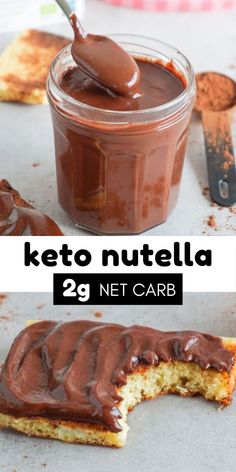 This keto nutella chocolate spread is a must-have in your fridge. Made with just 4 ingredients its low-carb and absolutely sugar-free deliciousness in a jar! Easy Chocolate Desserts, Chocolate Spread, Nutella Chocolate, Healthy Chocolate, Low Carb Desserts, Dessert Recipes, Nutella Spread, Nutella Cake, Dessert Ideas