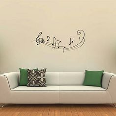 "Musical notes...but I'd put it somewhere small and more obscure...maybe notes from ""our song"" or something like that...maybe in our room?"