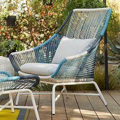 Huron Large Lounge Chair – Blue/Cement #westelm