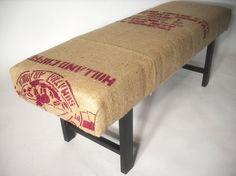 coffee bag bench