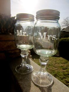 Mr and Mrs Redneck Wine glass set  Wedding by EtchedExpressions, $24.00  wwaanntt