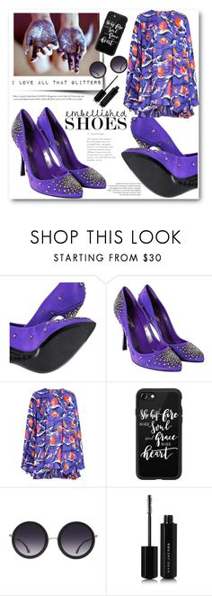 """""""Embellished Shoes"""" by beiacas ❤ liked on Polyvore featuring Sergio Rossi, Emilio Pucci, Casetify, Alice + Olivia, Marc Jacobs and embellishedshoes"""