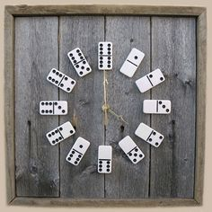 Large square barn wood domino clock