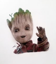 Baby Groot Guardians of the Galaxy Pencil Drawing