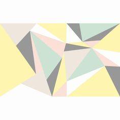 Pastel Geometric Wall Mural