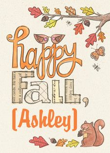 Happy Fall Personalized Card