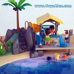 Télécharge Gratuitement le Décor que nous avons créé pour aller avec l'ile des vacanciers Playmobil