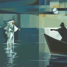 Fear not, it is I – Jorge Cocco Santángelo Christian Paintings, Christian Artwork, Lds Art, Bible Art, Catholic Art, Religious Art, Pictures Of Jesus Christ, Jesus Painting, Prophetic Art