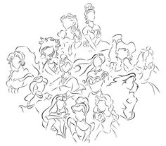 Disney Princess, love this!! And I can name them all!!