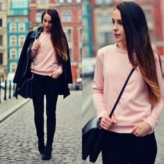 simple, pink and black