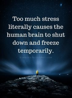 Stress Quotes Too Mu Stress Quotes Too Mu Stress Quotes Too Much Stress Literally Causes The Human Brain To Shut Down And Stress Quotes Too Much Stress Stress