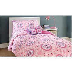 Piper 2-Piece Twin Comforter Set - Medallion Pink