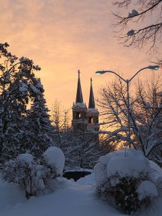 Gonzaga University Winter Sunset