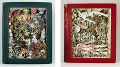 alexander korzer-robinson  re-purposes old books into awesome art
